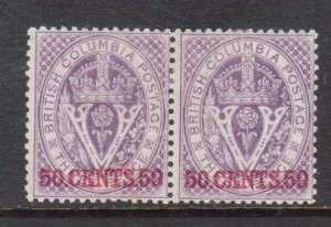 British Columbia #12 VF Mint Rare Pair **With Certificate**