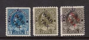 Canada #MR2bs - #MR2ds Mint Sample Overprint Set