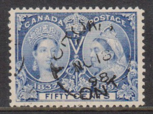 Canada #60 XF Used With Ideal Nov 18 1898 Ottawa CDS Cancel **With Cert.**
