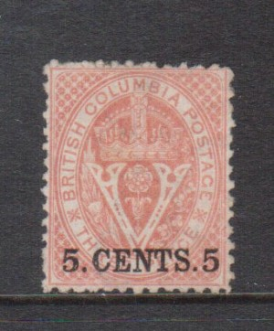 British Columbia #14 VF+ Mint **With Certificate**