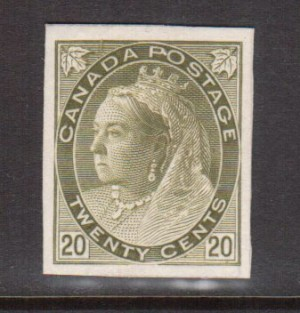 Canada #84P XF Plate Proof India Paper On Card