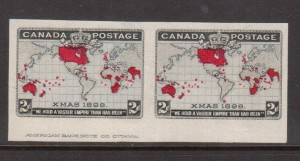 Canada #85a XF Imperf Pair Showing Full ABN Imprint