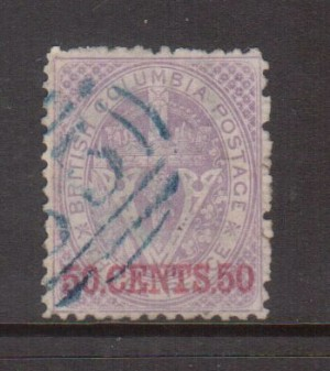 British Columbia #17 XF Used Gem **With Certificate**