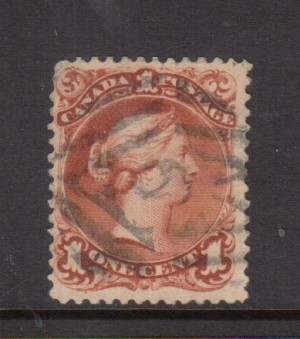 Canada #31 VF Used On Laid Paper **With Certificate**