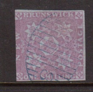 New Brunswick #4 Used With #8 Grid Cancel **With Certificate**