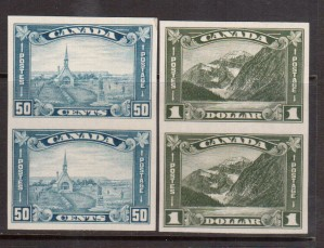 Canada #176a - #177a XF/NH Imperforate Pairs