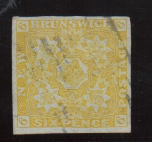 New Brunswick #2 XF Used With Four Large Margins **With Certificate**