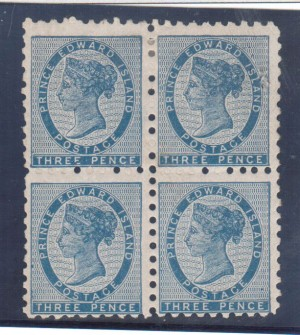 Prince Edward Island #2 Mint Block **With Certificate**