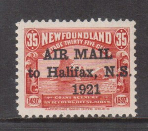 Newfoundland #C3J VF/NH **With Certificate**