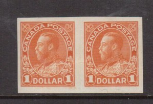 Canada #122a XF/NH Rare Imperforate Pair