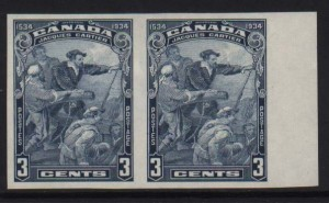 Canada #208a XF/NH Imperf Pair **With Certificate**