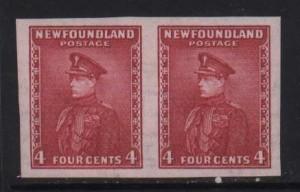 Newfoundland #189a NH Mint Superb Imperf Pair