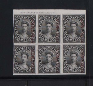 Canada #9TCi Mint Plate Proof Block On India Paper