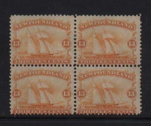 Newfoundland #30 Mint Scarce Block Of Four