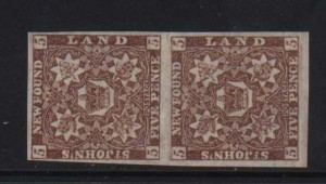 Newfoundland #19 XF/NH Showpiece Pair With Certificate