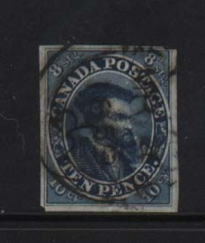 Canada #7a Used With March 4 1859 Cancel