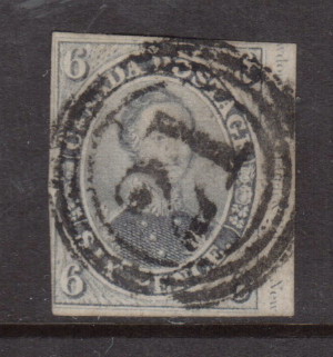 Canada #5 VF Used Showing Imprint In Margin **With Cert.**