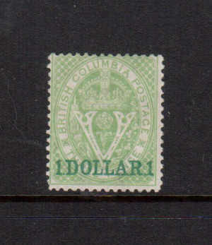 British Columbia #13 VF Mint **With Certificate**