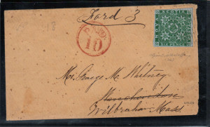 Nova Scotia #5 XF Used On Cover Dated AU 18 1859 **With Certificate**
