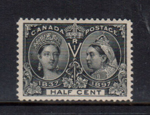 Canada #50 VF+/NH **With Certificate**