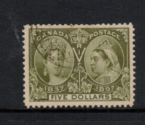 Canada #65 XF Used With Light CDS Cancel **With Certificate**