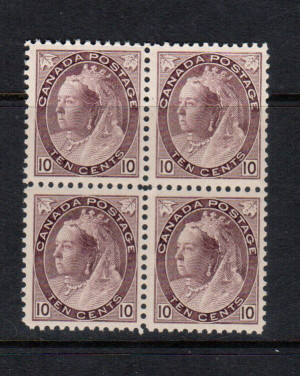 Canada #83 VF/NH Block **With Certificate**