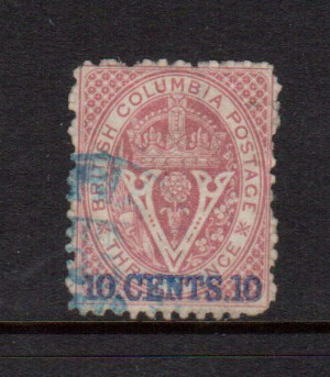 British Columbia #15 VF Used **With Certificate**