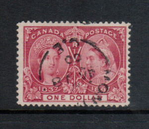 Canada #61 VF Used With Montreal CDS Cancel In Black **With Cert.**