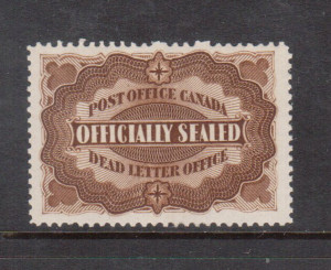 Canada #OX1 VF/NH Light Natural Gum Bend **With Certificate**