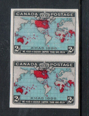 Canada #86ii XF Mint Unused (No Gum) As Issued Imperf Pair **With Cert.**