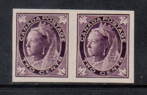 Canada #68a XF/NH Imperf Pair **With Certificate**