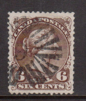 Canada #27b XF Used With Kingstong 9 Cancel **With Certificate**