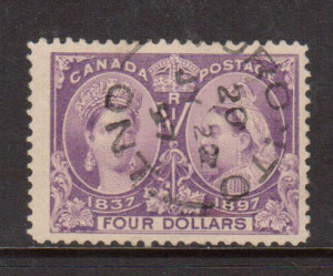 Canada #64 VF Used With Ideal July 22 1897 Cancel **With Cert.**