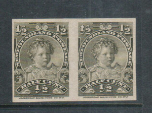 Newfoundland #78a VF Mint Imperf Pair **With Certificate**