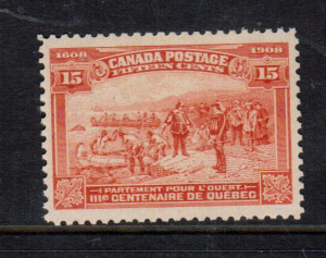Canada #102 XF/NH **With Certificate**