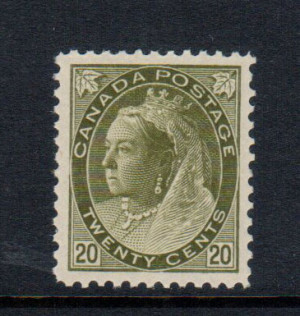 Canada #84 XF/NH Gem **With Certificate**