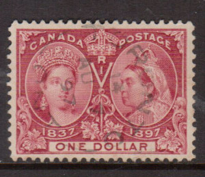 Canada #61 VF Used With Ideal August 7 1897 CDS Cancel