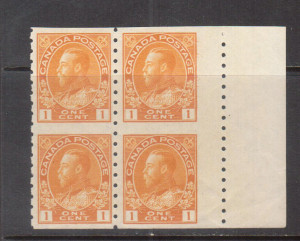 Canada #126ac XF/NH Block **With Certificate**