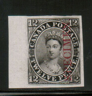 Canada #3Pi XF Plate Proof Gem With Large Sheet Margin