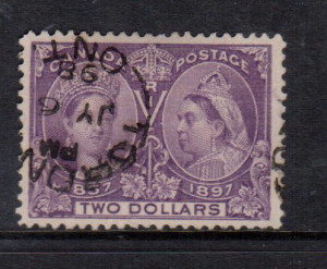 Canada #62 XF Used With Ideal Toronto July 6 1898 CDS Cancel **With Cert.**
