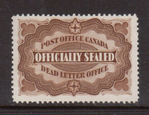 Canada #OX1 VF/NH **With Certificate**