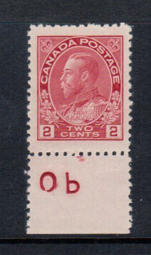 Canada #106b XF/NH Gem Jumbo Imprint **With Certificate**