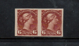 Canada #43b VF Mint Imperf Pair **With Certificate**