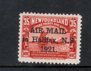 Newfoundland #C3f VF/NH **With Certificate**