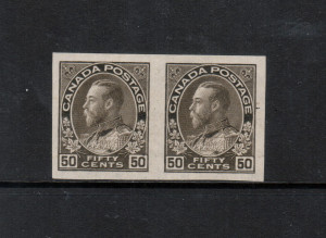 Canada #120b XF/NH Imperf Pair **With Certificate**