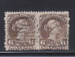 Canada #27b Used Watermarked Pair **With Certificate**