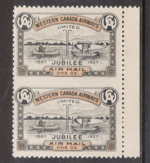 Canada #CL41d XF Mint Imperforate Between Margin Pair