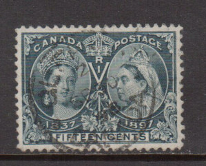 Canada #58 XF Used With Ideal Sept 30 1898 Cancel **With Certificate**