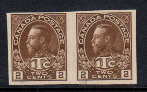 Canada #MR4c VF Mint Imperforate Pair
