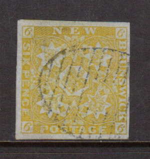 New Brunswick #2 Very Fine Used With Huge Margins **With Certificate**